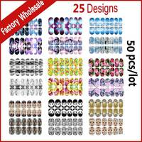 New Nail Art Stickers,50sheets Flowers Animals Mix Designed Glitter Full Nail Patch,DIY Beauty Adhesive Nail Decal Decoration