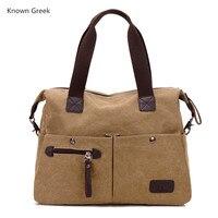 Fashion Women Famous Brand Tote Bag Vintage Canvas Shoulder Bag Hot Sales Handbag Woman Messenger Bag High Quality Travel Bags