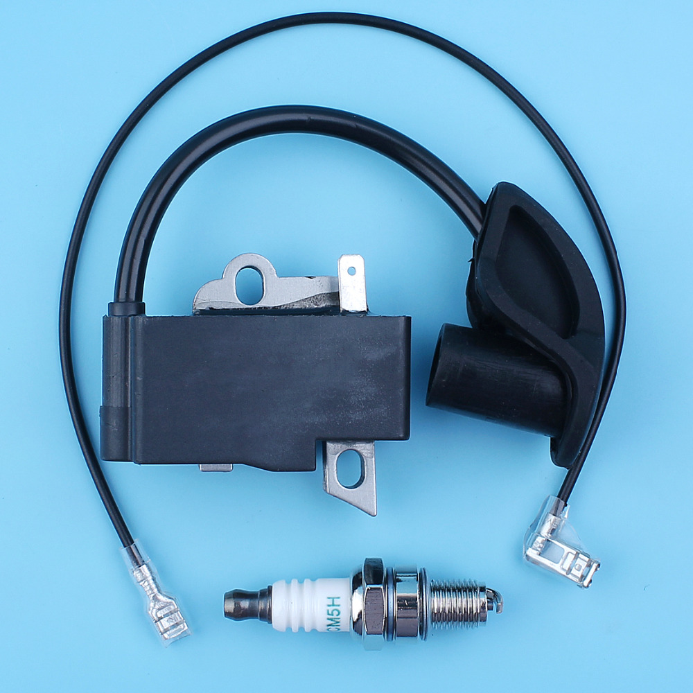 Ignition Coil Module Kit For Stihl FS90R FS110R KM110R Trimmer Spark Plug Part