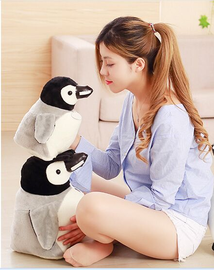 one piece small cute plush penguin toy gray penguin doll gift about 30cm 2651