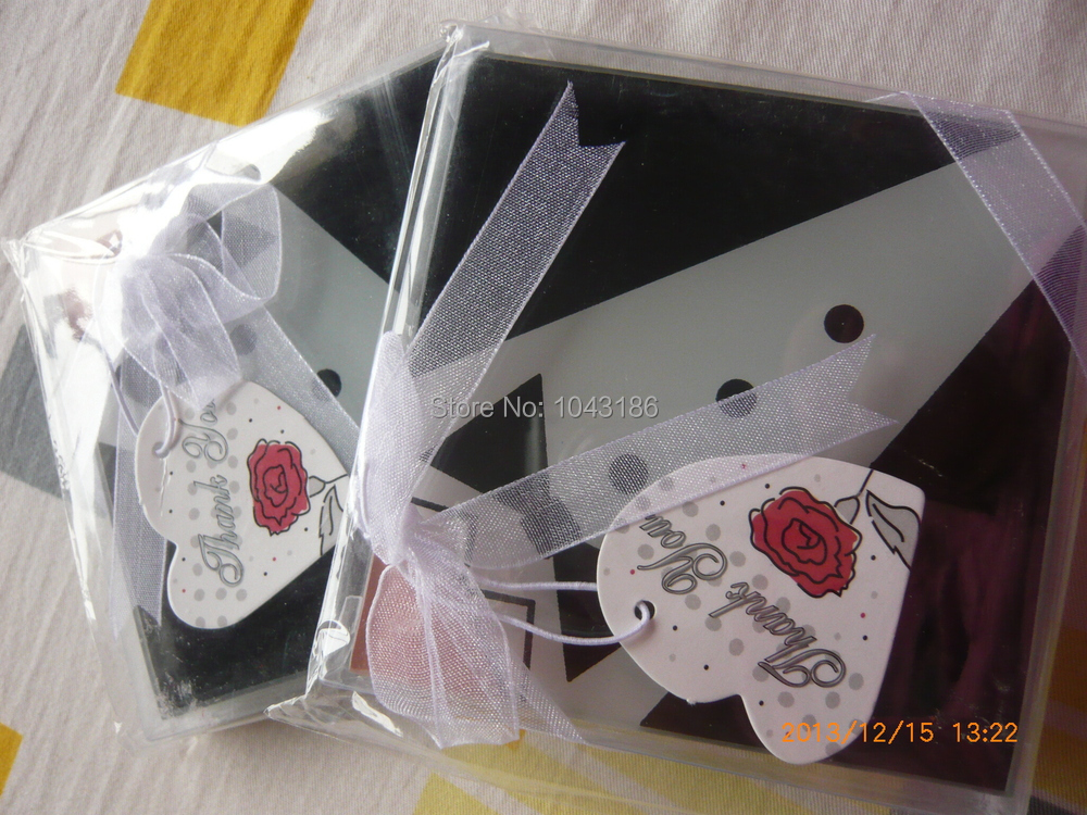 Free Shipping Wedding Favours Hot Sale Bridal Glass Coaster Set Door Gift Event Souvenir Party Favor100pcs Lot In Favors From Home Garden On