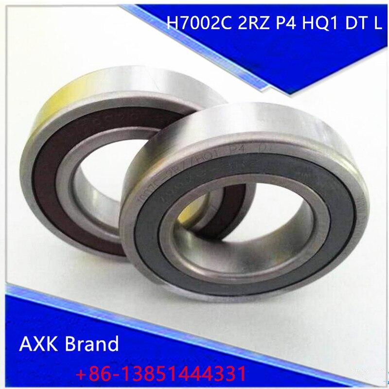 1pair 7002 H7002C 2RZ P4 HQ1 DT L 15x32x9 Sealed Angular Contact Bearings Speed Spindle Bearings CNC ABEC-7 SI3N4 Ceramic Ball 1 pair mochu 7005 7005c 2rz p4 dt 25x47x12 25x47x24 sealed angular contact bearings speed spindle bearings cnc abec 7