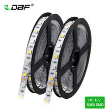[DBF] tira LED 5050 RGBW/RGBWW IP67 tubo impermeable DC12V luz LED Flexible RGB + blanco/RGB + blanco cálido 60 LED/m 5 m/lote(China)