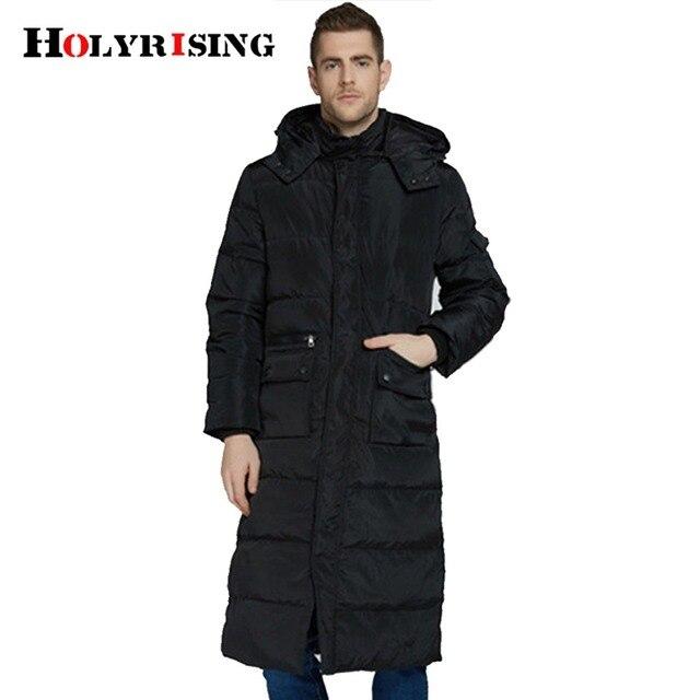 1fde2139 Классические мужские длинный пуховик Мужские утепленное пальто зимняя куртка  теплая верхняя одежда jaqueta masculina пуховики #