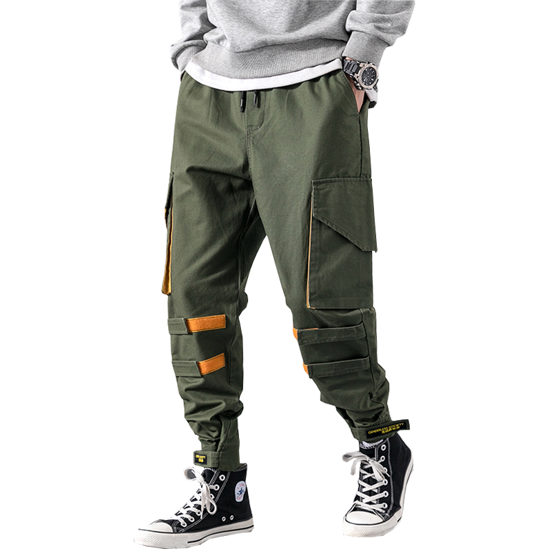 2019 New Streetwear Joggers Men Army Harem Pants Multi-pocket Hip Hop Mens Sweatpants Jogger Pants Men LBZ51