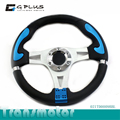 Universal Racing Style Alloy Steering Wheel With Horn Button 0009BBL