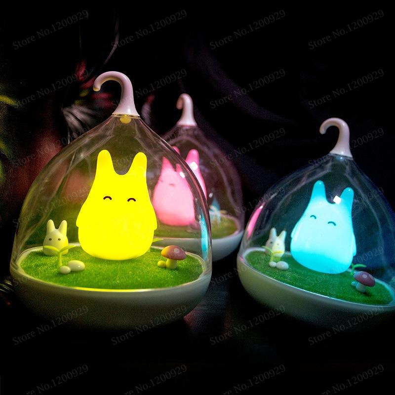 ECO Friendly 4Color LED Children Animal Night Light Cartoon Baby Nursery Lamp Kids Novelty Gitf LED Night Light USB Rechargeable