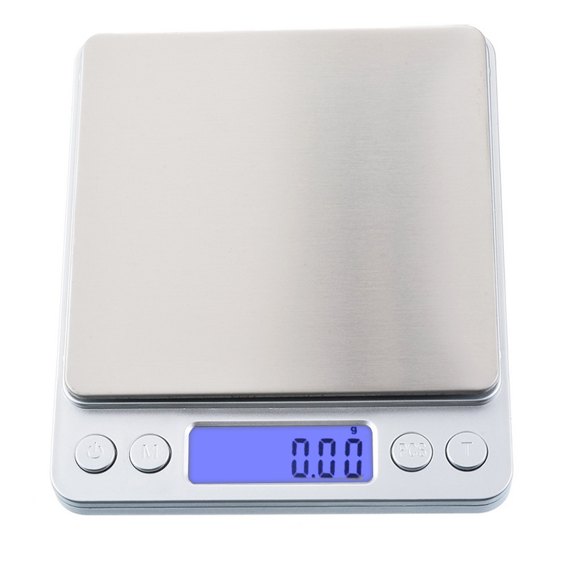 1/2/3kg 0.01/0.1g LED Digital Weighing Scale Mini Precision Grams Weight Electronic Balance Scale For Tea Baking Medicinal Herbs