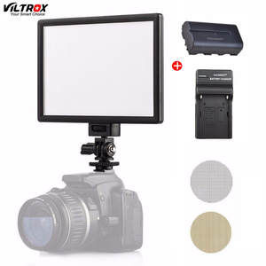 Viltrox L116T LED Photography Iluminador Photo Shooting Light LCD Display Panel Camera DSLR DV Studio Video Lamp With Battery