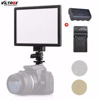 Viltrox L116T LED Photography Video Shooting Lighting LCD Display Panel Day light Camera Photo DSLR DV Studio Lamp With Battery