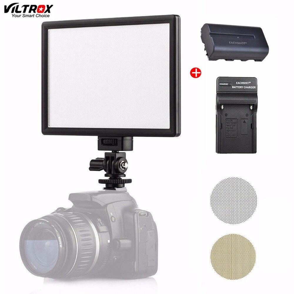 Viltrox L116T LED photographie vidéo tir éclairage LCD panneau d'affichage jour lumière caméra Photo DSLR DV Studio lampe avec batterie