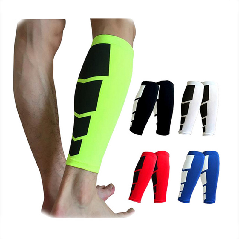 1PCS Base Layer Compression Leg Sleeve Shin Guard Uomini Donne Ciclismo Scaldamuscoli Running Football Basket Supporto Vitello Sport