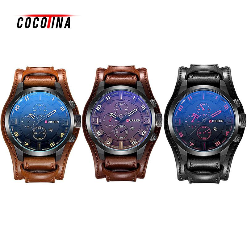 COCOTINA Fashion Curren Men Date Stainless Steel Leather Analog Quartz Sports Male Student Wrist Watch Waterproof Life LSB01051 kids shoes girls boys pu leather lace up high children sneakers girl baby shoes sport autumn winter children shoes