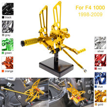 CNC Aluminum Adjustable Rearsets Foot Pegs For MV Agusta F4 1000 2009 2008 2007 2006 2005 2004 2003 2002 2001 2000 1999 1998 2pcs for peugeot 206 1998 1999 2000 2001 2002 2003 2004 2005 2006 2007 with gift rear tailgate gas struts spring boot holders