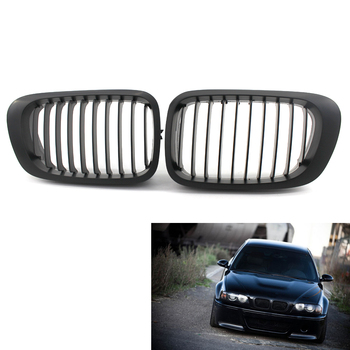 Pair Matte Black Front Sport Grille Grill Kidney for BMW E46 2D 2 Door Coupe Convertible 99-02 M3 2001-2006 Pre-Facelift image