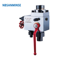 NBSANMINSE AJS Hydraulic Valve Group For Bladder Accumulator Manual Standard 10/ 20 /31.5 MPa Direct Over flow valve
