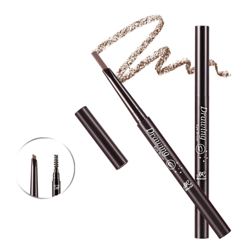 2019 Automatic Rotation Eyebrow Pencil With Eyebrow Brush Waterproof Smudge proof Easy To Color Double end Eyebrow Pen in Eyebrow Enhancers from Beauty Health