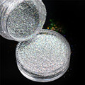3g Jar Holographic Laser Silver Color Shining Nail Glitter Dust Powder for Nail Art Decoration Glitter Crafts Manicure Tools L03