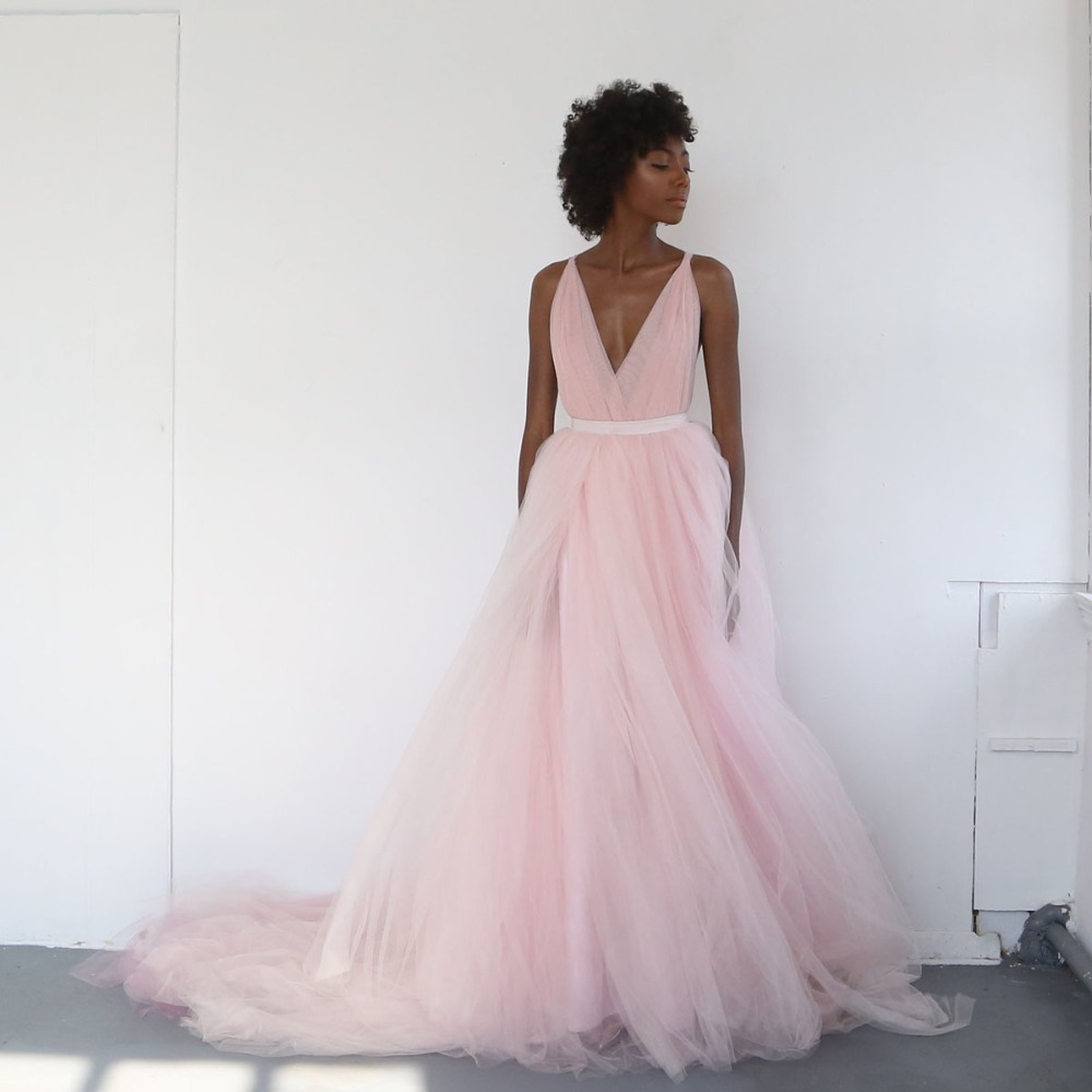 Bridal Separates: Vintage Tulle Wedding Skirt Pink Floor Length Long Bridal