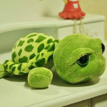 20/28CM Cute Stuffed Plush Animals Super Green Big Eyes Tortoise Turtle Animal Baby Toy Birthday Gift