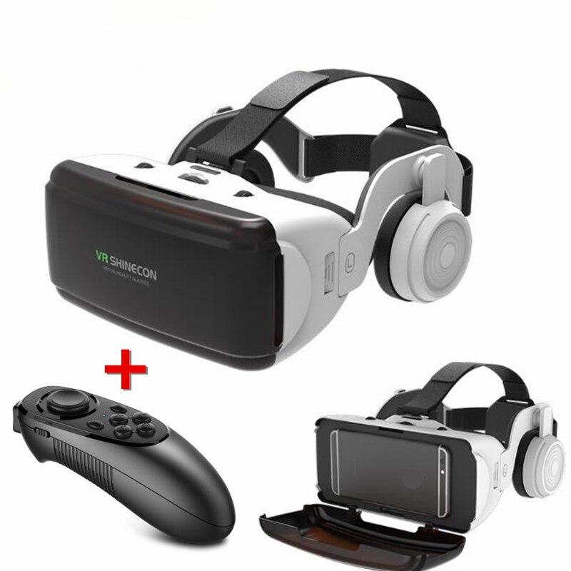 Original VR Realidad Virtual 3D gafas caja estéreo de cartón VR casco auricular para IOS Android Smartphone Bluetooth basculante