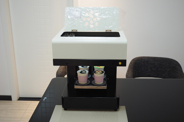 3D 1-4cups coffee Print  machine  Small cake Food printer Edilbe ink 4*100ml free