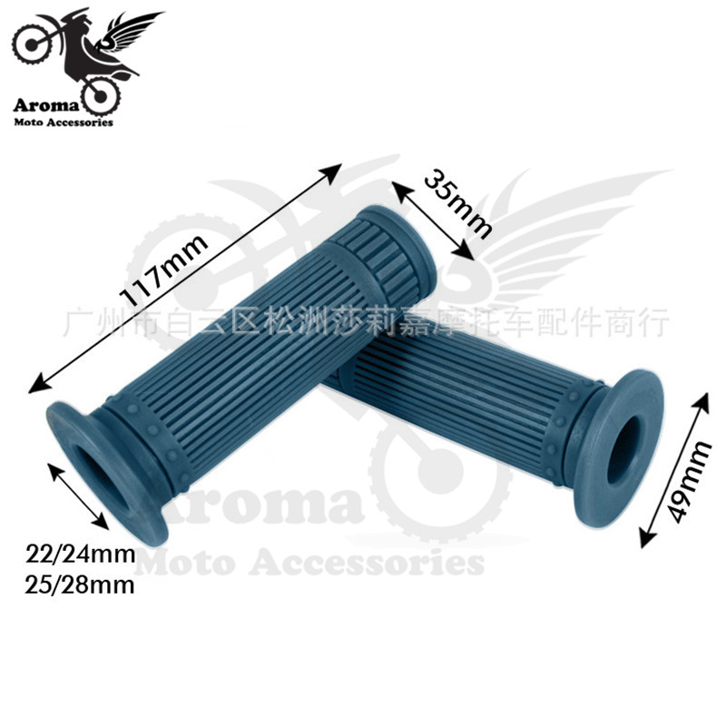 retro racer bobber custom soft rubber moto accessorise scooter grips bar motorbike handlebar universal part 22MM motorcycle grip in Grips from Automobiles Motorcycles