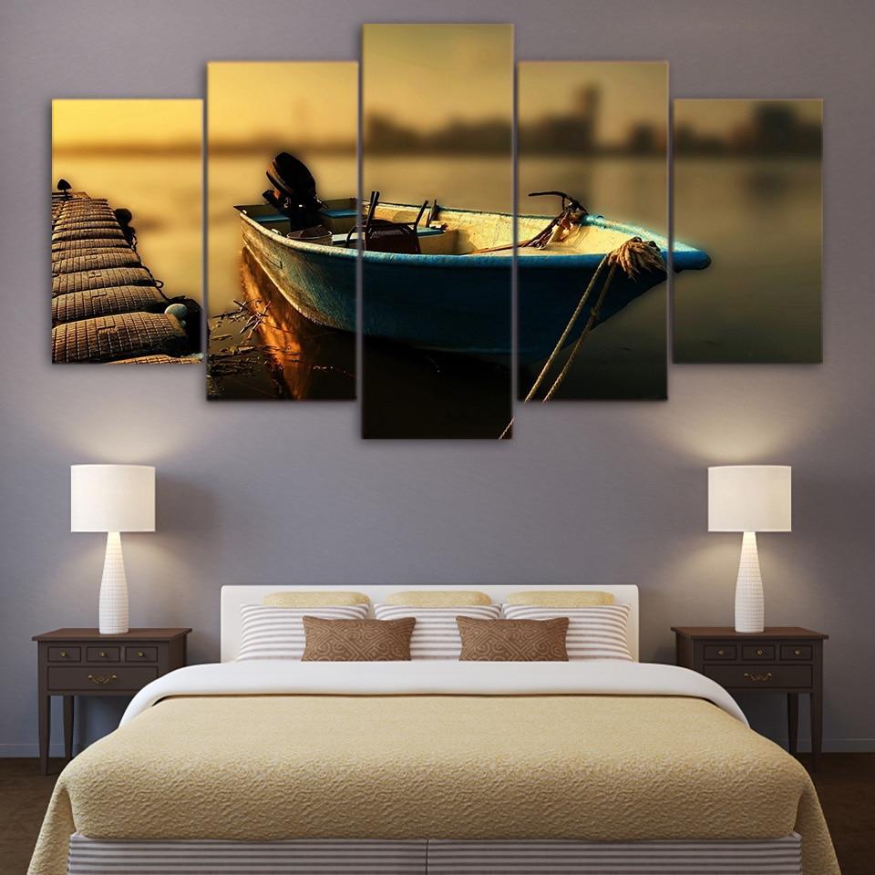 HD Gedruckt Rahmen Poster Leinwand Wandkunst Modulare Vintage Pier ...