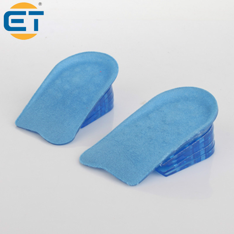 Silica Gel 5-layer 2-5cm Silicone Height Increase Insoles Pads Elastic Heighten Entire Insole