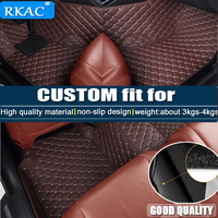 RKAC Car floor mats for Honda Civic 8th 9th 10th generation all weather car styling carpet rugs floor liners Interior Mouldings