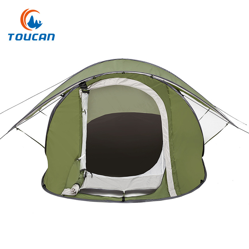 Outdoor tent automatic speed open lazy tent Double waterproof door portable double screen tent