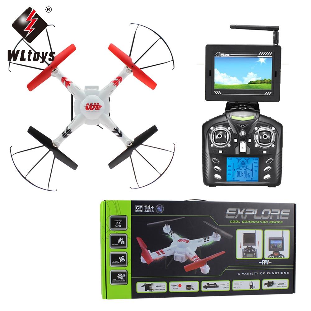 1pcs WLtoys V686/V686K/V686G/V686J 2.4G Channel FPV Headless flying Mode RC Quadcopter Drone with Monitor/Gyro