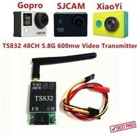 FPVOK TS832 FPV 5.8Ghz 600mW 48CH AV الإرسال (TX) وحدة w/RP-SMA هوائي ل SJCAM Gopro Xiaomi يي FPV كاميرا