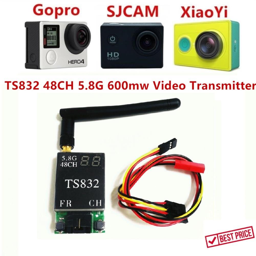FPVOK TS832 FPV 5,8 GHz 600 MW 48CH AV Transmisión (TX) módulo w/RP-SMA antena para SJCAM Gopro Xiaomi Yi Cámara FPV
