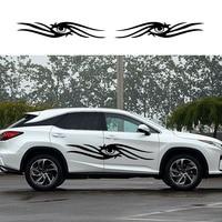 2x Beauty Eye Winks Graphics Warm Happy Styling Car Sticker Camper Van RV SUV Trailer Truck