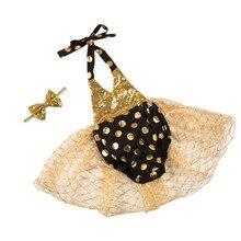 retail girl Tutu Dresses cute Baby Girls Casual Children Clothing sequin dot  romper tutu set with hairband STUS16