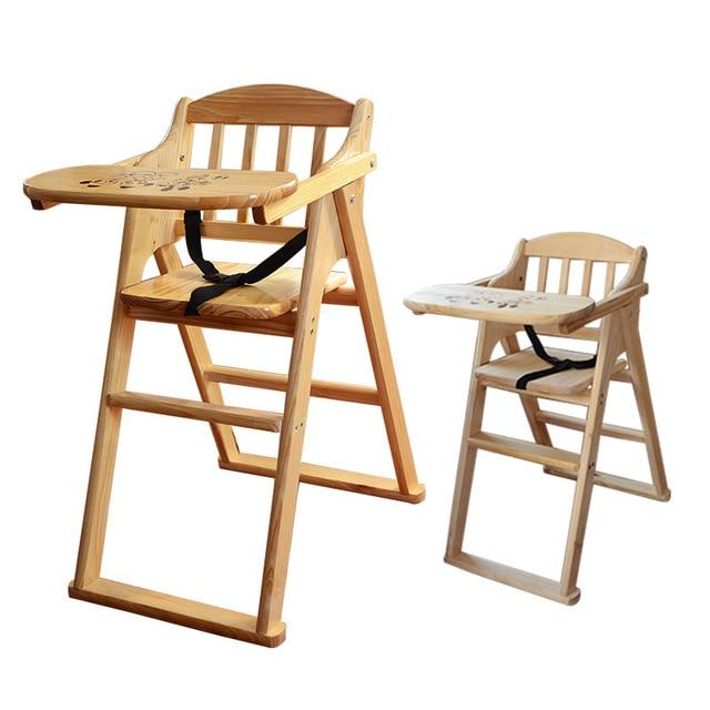 Seat High Chair Lightweight Camp Soild Wood Baby Portable Infant Folding Children Feeding Chairs