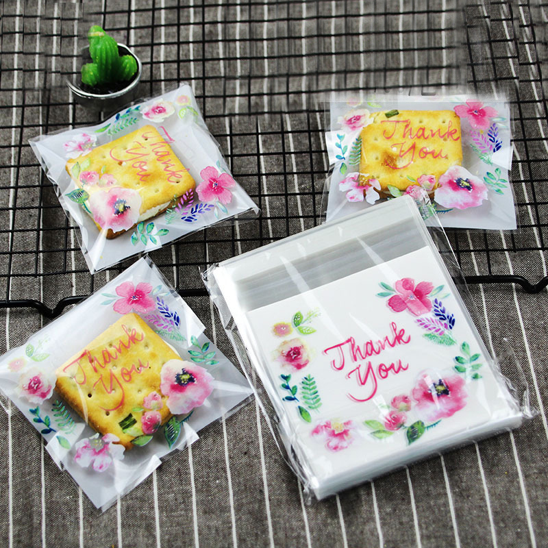 Cookie Gift-Bag Biscuit-Baking-Packaging-Bag Candy-Bag Plastic Bags Thank-You Self-Adhesive title=