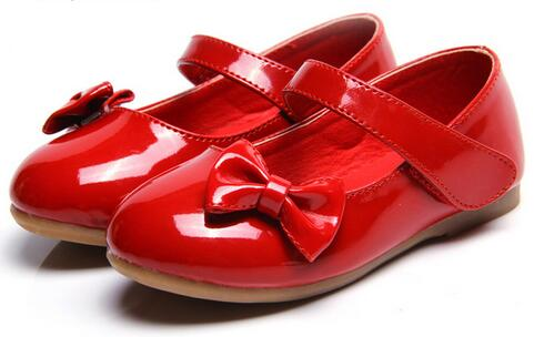 2018 European fashion cow muscle girls shoes patent leather high quality children shoes excellent elegant baby kids toddlers