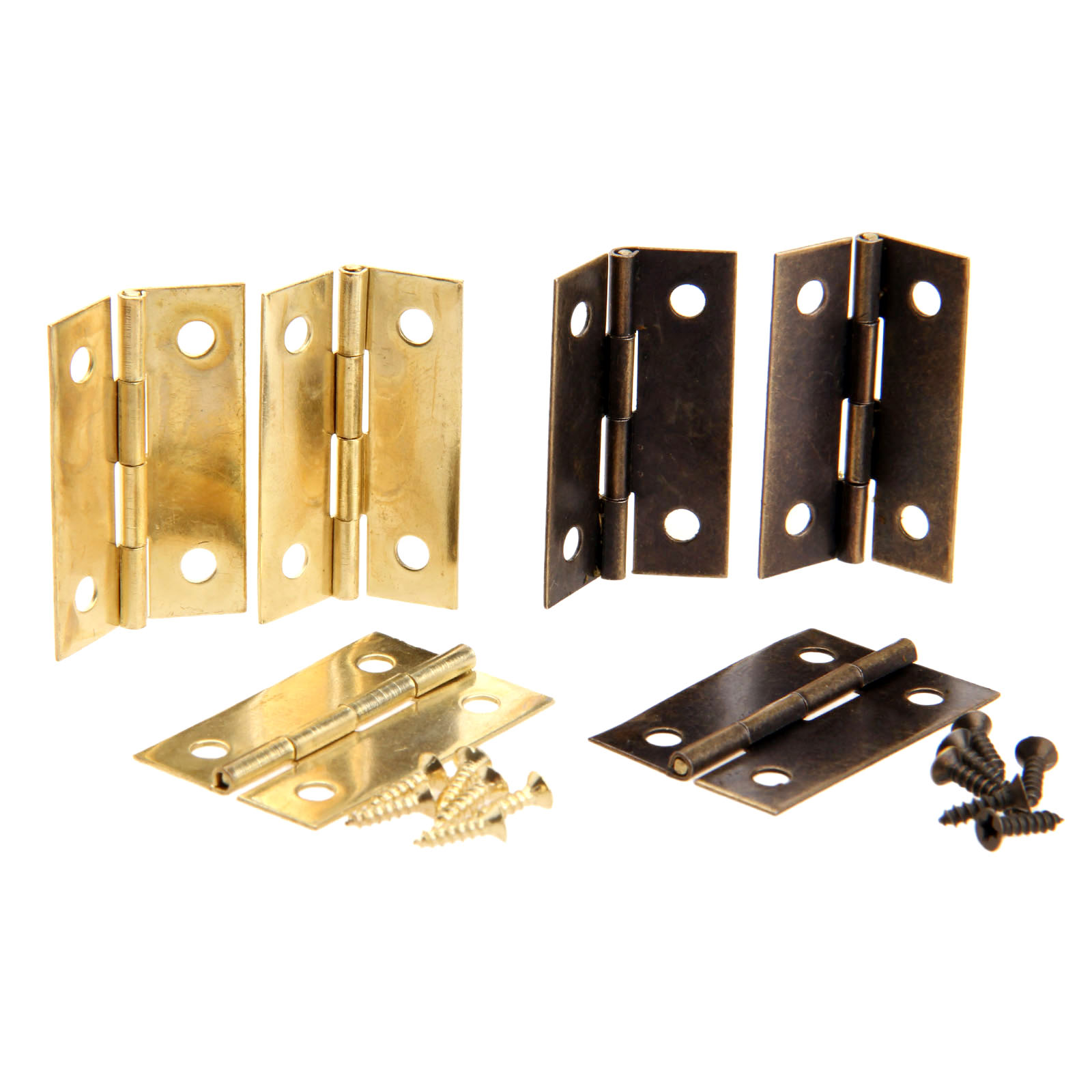 4Pcs Antique Bronze/Gold Cabinet Hinges Furniture Accessories Wood Boxes Decorative Hinge Furniture Fittings For Cabinet 34x22mm nervilamp 710 2a gold bronze