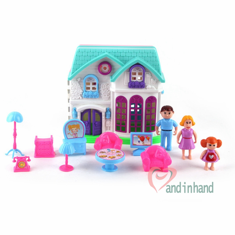 plastic dollhouse furniture sets. plastic dollhouse furniture set toys chair table happy family house pretend play juguetes classic for sets a