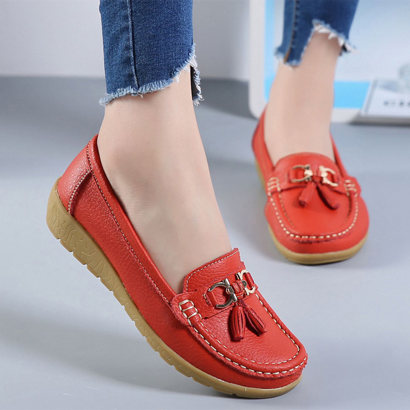 fashion women flats shoes genuine leather shoes woman cutout loafers slip on breathable ballet flat ballerina flats 2018 spring women flats shoes women genuine leather shoes woman cutout loafers slip on ballet flats ballerines flats 169