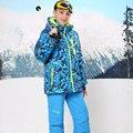 Russian Winter Children Clothing Sets Boys Ski Suit Outdoor Windproof Waterproof Boys Ski Jacket+Bib Pants for 6-16Y