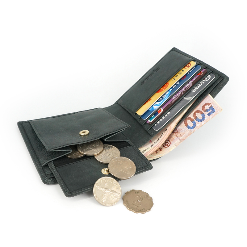 embreagem do sexo masculino bolsa Interior : Bolso Interior do Entalhe, coin Pocket, note Compartment, suporte de Cartão