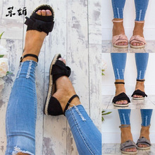 Womens Sandals Rome Flats Sandals For 2019 Summer Shoes Woman Peep Toe Casual Shoes Low Heels Sandalias Mujer Plus Size 35-43 2018 new summer shoes women sandals comfy fashion casual flats sandals for woman european rome style sandalias