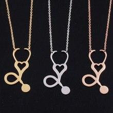 aiboduo 2019 Simple Necklaces & Pendants Womens Fashion Stethoscope Shape Choker Necklace Women Chains 51N0009