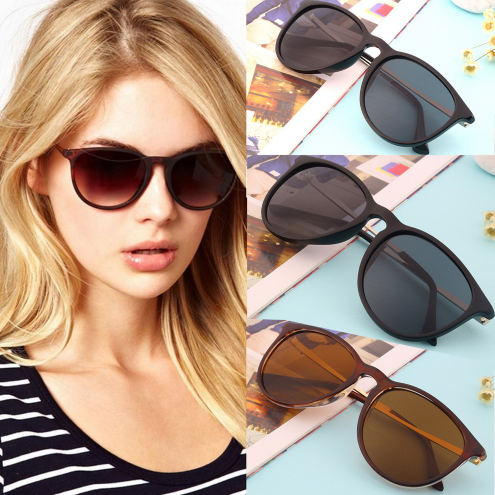 vintage sunglasses women brand designer sun glasses lunette de soleil Cat Eye Round Glasses Metal Frame Sunglasses Accessories
