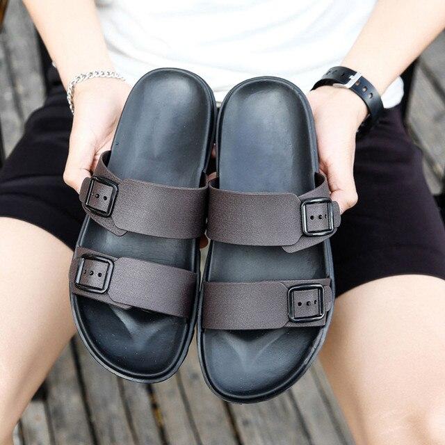 موضة الرجال الصيف أحذية الترفيه النعال الوجه يتخبط أحذية مريحة لينة صندل الرجال عادية ريترو النعال الصنادل A3063 1