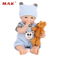 35cm Soft Silicone Doll Reborn Baby Handmade BeBe Doll Toy For Girls Newborn Baby Gifts