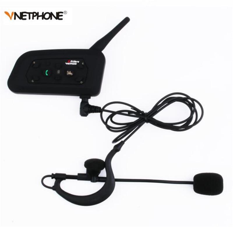 VNETPHONE V6C Professional Football Referee Headset Intercom Kit Wireless Bluetooth Arbitration Monaural Earhook Earphone 1200M